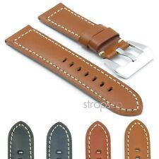 DASSARI Monaco Smooth Vintage Italian Leather Mens Watch Band Strap for Panerai