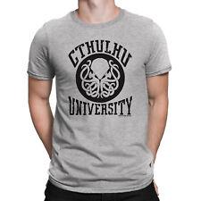 Mens T-Shirt CTHULHU UNIVERSITY Horror Book Dragon Octopus Entity Novelty