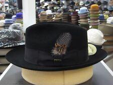 SCALA BLACK FEDORA FUR FELT DRESS HAT