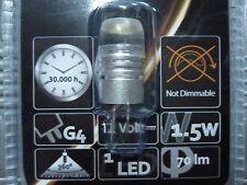 LAMPADA SUPER LED LUCE A 360° FARETTO G4 1,5W LAMPADINA 12V FARO LUCE BIANCA