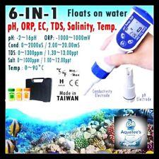 6 in1 Digital Pen Tester pH EC TDS Salinity Temperature Water Quality Meter Aqua