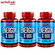 Energon X 90-270 Caps. Guarana Ginseng Taurine Magnesium Vitamin B6 Energy Pills