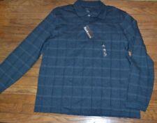 Van Heusen Long Sleeve Polo Shirt Turquoise Vulcan Size XL