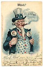 Political Campaign-UNCLE SAM- WILLIAM TAFT & JENNINGS BRYAN-Franz Huld Postcard