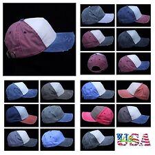 Men's Baseball Cap Distressed Hat Solid Plain Fashion Hip Hop Sports Caps Unisex