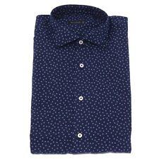 1625X camicia uomo BROUBACK blue cotton shirt man