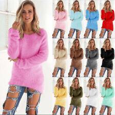 b9db4a2b7f5 UK Womens Warm Long Sleeve Sweater Ladies Sweatshirt Jumper Pullover Tops  Blouse