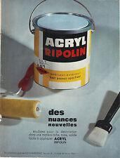 PUBLICITE ADVERTISING  1964   RIPOLIN ACRYL  peintures