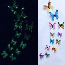 12Pcs/set Luminous butterfly Wall Sticker living room Butterflies for wedding