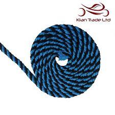 10mm 100% coton naturel corde avec Ganse turquoise noir