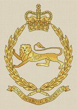 "King's Own Royal Border Regiment Cross Stitch Design (6x9"",15x23cm,kit or chart)"