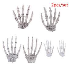 2Pcs Halloween Skull Skeleton Human Hand Bone Terror Adult ScaryPropDecorationSL