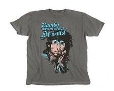 Nouveau Officiel Rambo ne pas dormir Film Rétro Années 80 Gris Homme Tee T Shirt