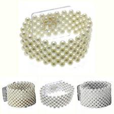 Oasis Pearl Corsage, Prom Bracelet / Wristlet 1 x Small 2.5cm / Large 4cm.