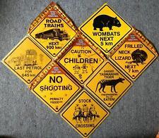 19cm Australien No Shooting Last Petrol Lizard Wombat Road Train Truck SCHILD