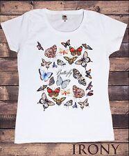 "Women's white t-shirt Farfalle bellissime ""Farfalla"" tutto stampa TS774"