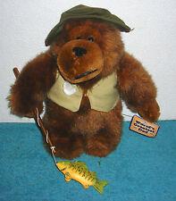 "WORLD'S GREATEST DAD 10"" PLUSH FISHING BEAR FATHERS DAY BIRTHDAY GIFT"