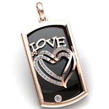 Natural 1.5ct Round Cut Diamond Ladies Valentine Heart Love Pendant 18K Gold