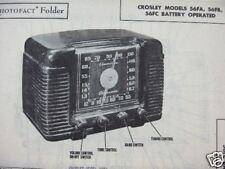 CROSLEY 56FA, 56FB, 56FC RADIO PHOTOFACT