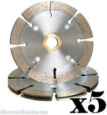 "(5) 7"" Duo TuckPoint Style Sandwich Blade Wheel Mortar Joints Repair Brick Block"