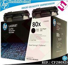 PACK 2 TONER NEGRO CF280XD 280XD 80XD XL ORIGINAL IMPRESORAS HP HEWLETT PACKARD