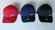 CCM Tactel Full Flex Hockey Hat! Fitted Cap SR All Sizes S M L XL Navy Red Black