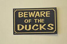 Beware Of The Ducks Poultry Bird Wall Door Christmas Gift Farm/Livestock Sign