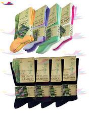 Womens lot Of Ladies Bamboo Loose Top Socks, Super Soft Anti Bacterial UK 4-7