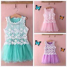 Girls lace flower-girl,bridesmaid,christening wedding party tutu dress gift