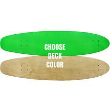 "MOOSE Longboard Skateboad Deck 9"" x 40"" Kicktail Cruiser Maple"