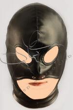 Open chin vegan leather hood / Fetish leather slave mask / BDSM hood Gimp mask