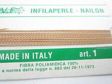 1 infila perle professional color camello con ago in rame 180 cm  n° da 1 a 9