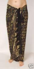 NEW SARONG BEACH SWIMWEAR POOL DRESS COVER UP WRAP PAREO BLACK & BROWN / sa250