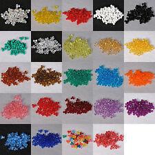 200 Pieces 11mm Tri Bead Acrylic USA Made 40060000  (Choose Color)