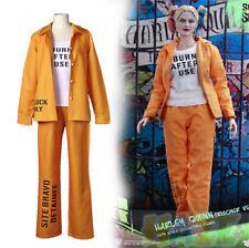 Suicide Squad Harley Quinn Fancy Dress Cosplay Costume Prison Uniform Unisex