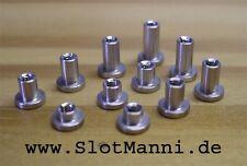 Slotcar ALU T-Hülsen 3mm M2 1mm - 7mm Made in Germany neu