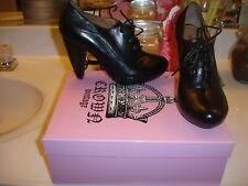 Crown Vintage Brand Black Leather Shoes Nice $140 Sz 7