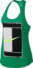 NIKE Women's Tennis Court Dry Tank Green-Black-White 831474-324