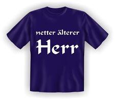 T-Shirt Fun Shirt lustig witzig Netter älterer Herr S -  XXXL