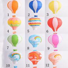 1Pc 12'' Rainbow Hot Air Balloon Paper Lantern Birthday Party Wedding Decor VB