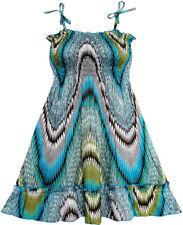 Sunny Fashion Robe Fille Smocks Licou Motif Cachemire Vert