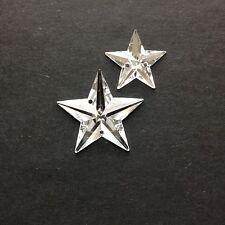 25/50 X estrellas de acrílico facetas para coser Piedras/GEMAS/JOYAS - 15 + 22mm Cristal.