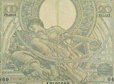 100 Francs 20 Belgas, 1933 <<==>> 1943 KM#107 Frank België, Belgique #F3#