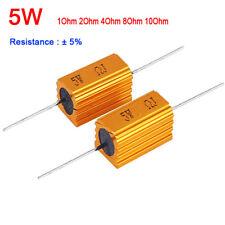 1ohm 2ohm 4ohm 8ohm 8R 5W Watt Power Metal Resistor 4 Tube Amp Test Dummy Load