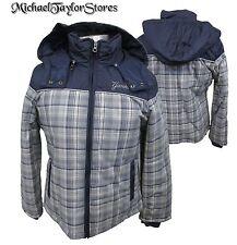 New York Yankees Women's S, M, L Full-Zip Hooded Plaid Winter Jacket MLB A13MLF
