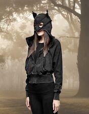 Gothic Batcave Visual Kei Punk Rave Jacke Kapuze Hoodie Pullover Cat Katze
