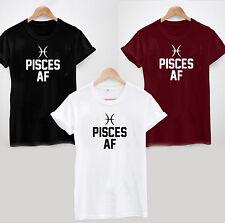 Fische AF T-Shirt-As F * CK Lustig Cool Rude Zodiac Februar März Geburtstagsgeschenk