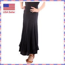 STS2437bk New Women Ballroom Latin Smooth Tango Flamenco Country Dance Skirt