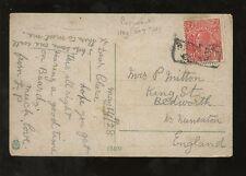 MARITIME AUSTRALIA 1928 KG5 HEAD 1 1/2d...BOXED PAQUEBOT...on EGYPT PPC