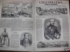 L'ILLUSTRATION 1860 N 900 PÊCHE A L'ALOSE DANS LE RHIN